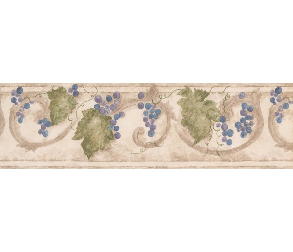 Clearance: Grape Fruits Wallpaper Border 76660 KF