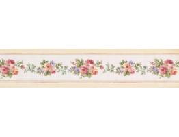 Floral Wallpaper Border 76733 CN