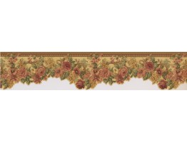 Prepasted Wallpaper Borders - Floral Wall Paper Border 76855 WD DC