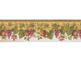Prepasted Wallpaper Borders - Fruits Wall Paper Border 76860 KS