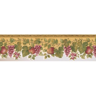 6 3/4 in x 15 ft Prepasted Wallpaper Borders - Fruits Wall Paper Border 76860 KS
