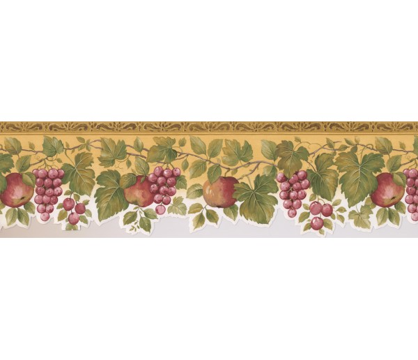 Garden Borders Fruits Wallpaper Border 76860 KS York Wallcoverings