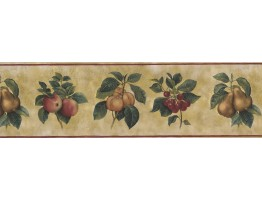 Prepasted Wallpaper Borders - Fruits Wall Paper Border 77369 AW