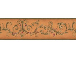 Prepasted Wallpaper Borders - Floral Wall Paper Border 7747 KM