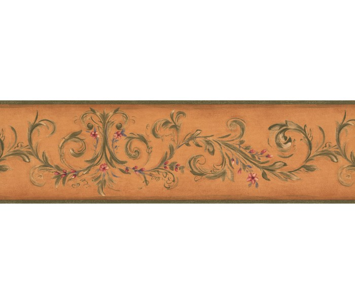 Garden Wallpaper Borders: Floral Wallpaper Border 7747 KM