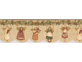7 in x 15 ft Prepasted Wallpaper Borders - Angels Wall Paper Border 77719 BT