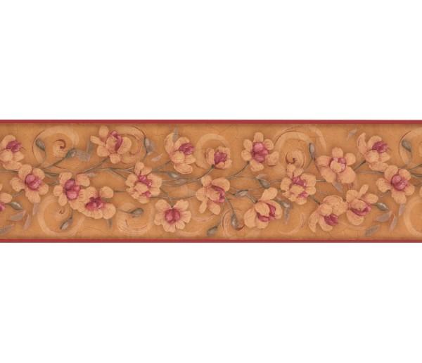 Garden Wallpaper Borders: Floral Wallpaper Border 7775 KM