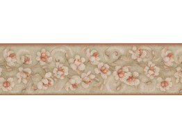 7 in x 15 ft Prepasted Wallpaper Borders - Floral Wall Paper Border 7776 KM
