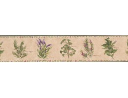 5 1/4 in x 15 ft Prepasted Wallpaper Borders - Floral Wall Paper Border 77900 KT