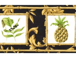 7 in x 15 ft Prepasted Wallpaper Borders - Fruits Wall Paper Border 77952 AR