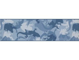 7 in x 15 ft Prepasted Wallpaper Borders - Animals Wall Paper Border 7801 CK