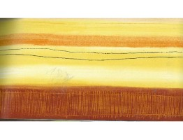 Yellow White Orange Groove Wallpaper Border 78186 CT