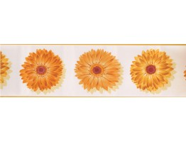 Prepasted Wallpaper Borders - Sunflower Wall Paper Border 78221 CU