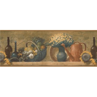 9 in x 15 ft Prepasted Wallpaper Borders - Kitchen Wall Paper Borders 78269 TK