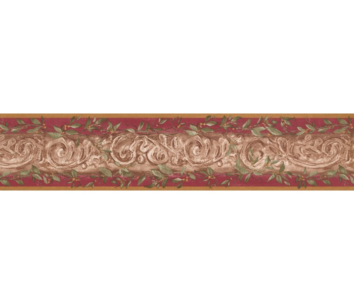 Vintage Wallpaper Borders: Damask Wallpaper Border 7852 KM