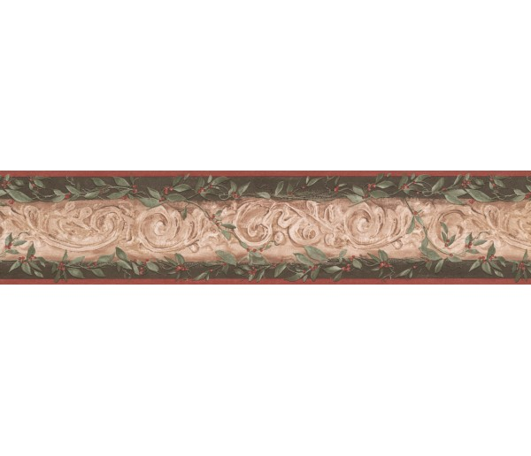 Vintage Wallpaper Borders: Damask Wallpaper Border 7853 KM