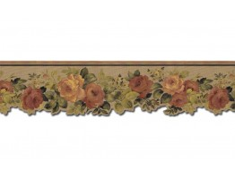 Prepasted Wallpaper Borders - Roses Wall Paper Border 79112