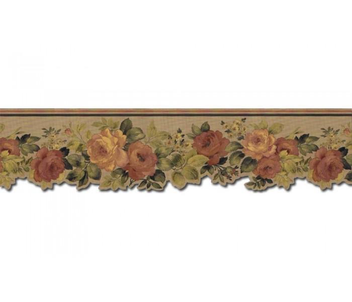 Garden Wallpaper Borders: Roses Wallpaper Border 79112