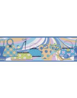 Prepasted Wallpaper Borders - Hand Bags Wall Paper Border 79201 GU