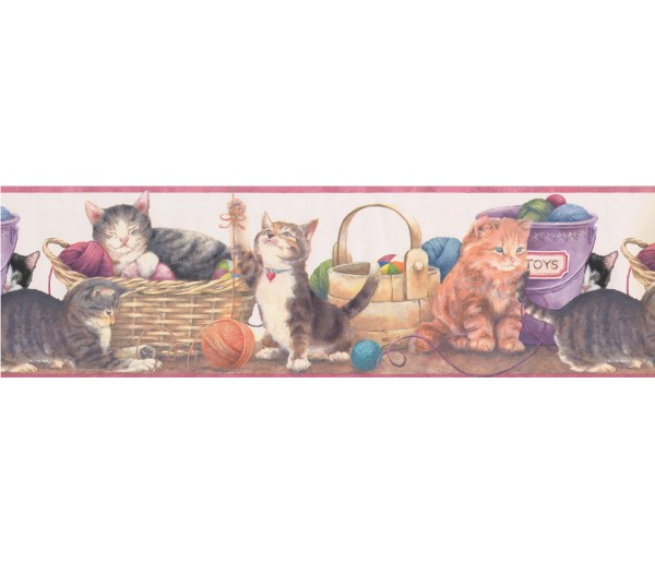 Prepasted Wallpaper Borders - Cats Wall Paper Border 79257 GU