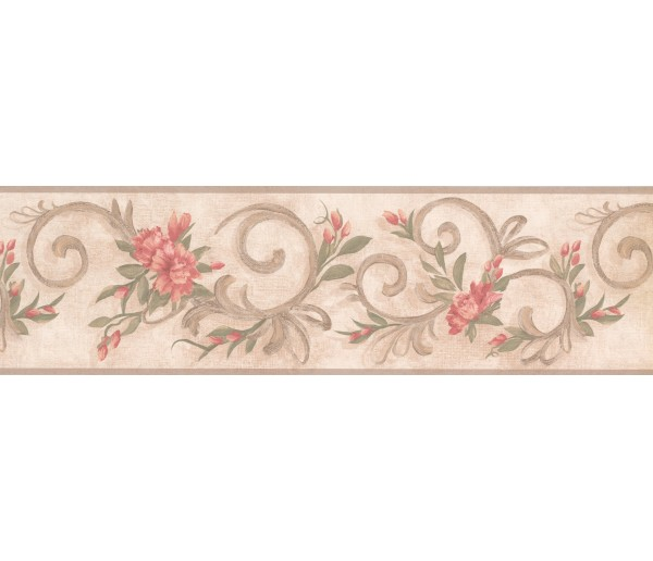 Garden Wallpaper Borders: Floral Wallpaper Border 7957 KM