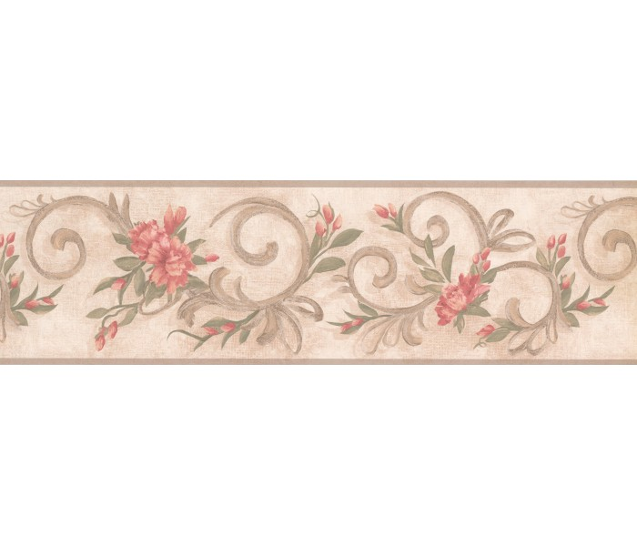Garden Wallpaper Borders: Floral Wallpaper Border 7957 KM