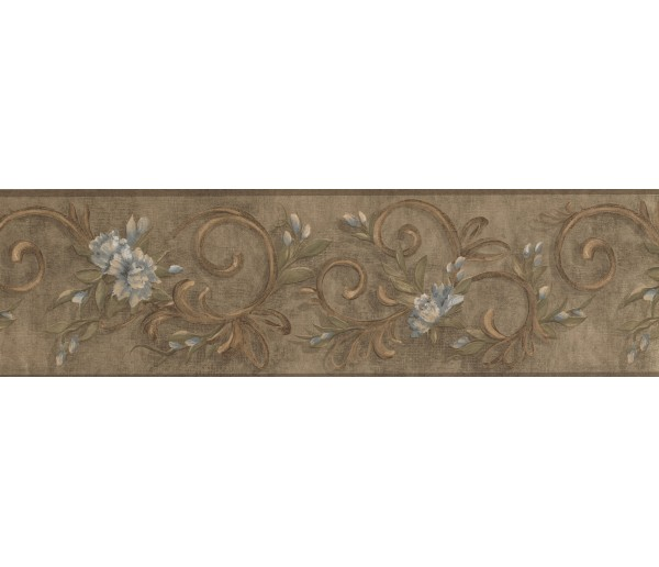 Garden Wallpaper Borders: Floral Wallpaper Border 7958 KM