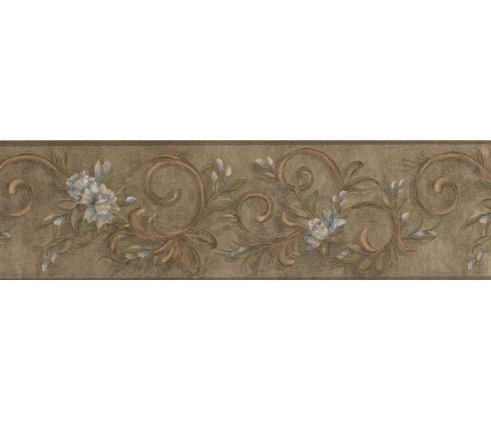 Garden Wallpaper Borders: Floral Wallpaper Border 7958 KM