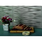 Wall Panels Backsplash Tiles  - Decorative Thermoplastic Tile 18 X 24 Sahara Crosshatch Silver