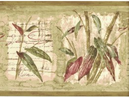 Prepasted Wallpaper Borders - Bamboo Wall Paper Border 80B64171