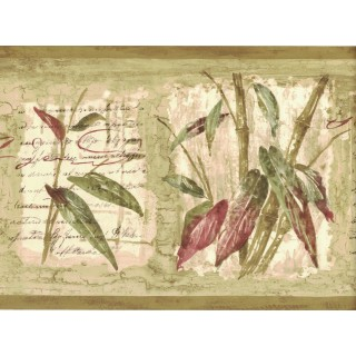 8 in x 15 ft Prepasted Wallpaper Borders - Bamboo Wall Paper Border 80B64171