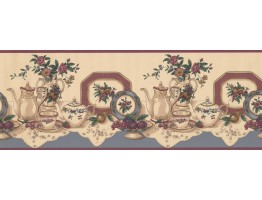 Prepasted Wallpaper Borders - Kitchen Wall Paper Border 8331 CS
