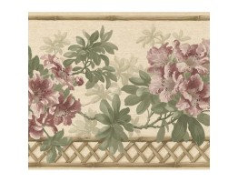 Prepasted Wallpaper Borders - Floral Wall Paper Border 83B57401