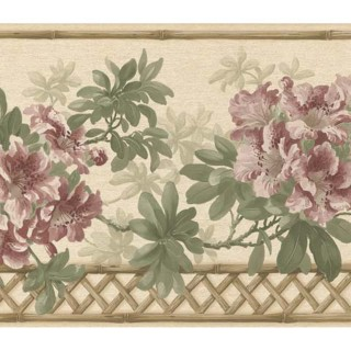 10 1/4 in x 15 ft Prepasted Wallpaper Borders - Floral Wall Paper Border 83B57401