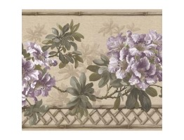 Prepasted Wallpaper Borders - Floral Wall Paper Border 83B57402
