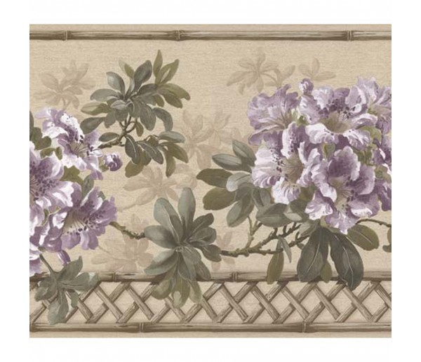 Floral Borders Floral Wallpaper Border 83B57402 Fine Art Decor Ltd.