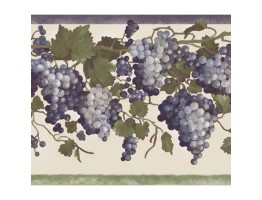 Prepasted Wallpaper Borders - Grape Fruit Wall Paper Border 84B73602