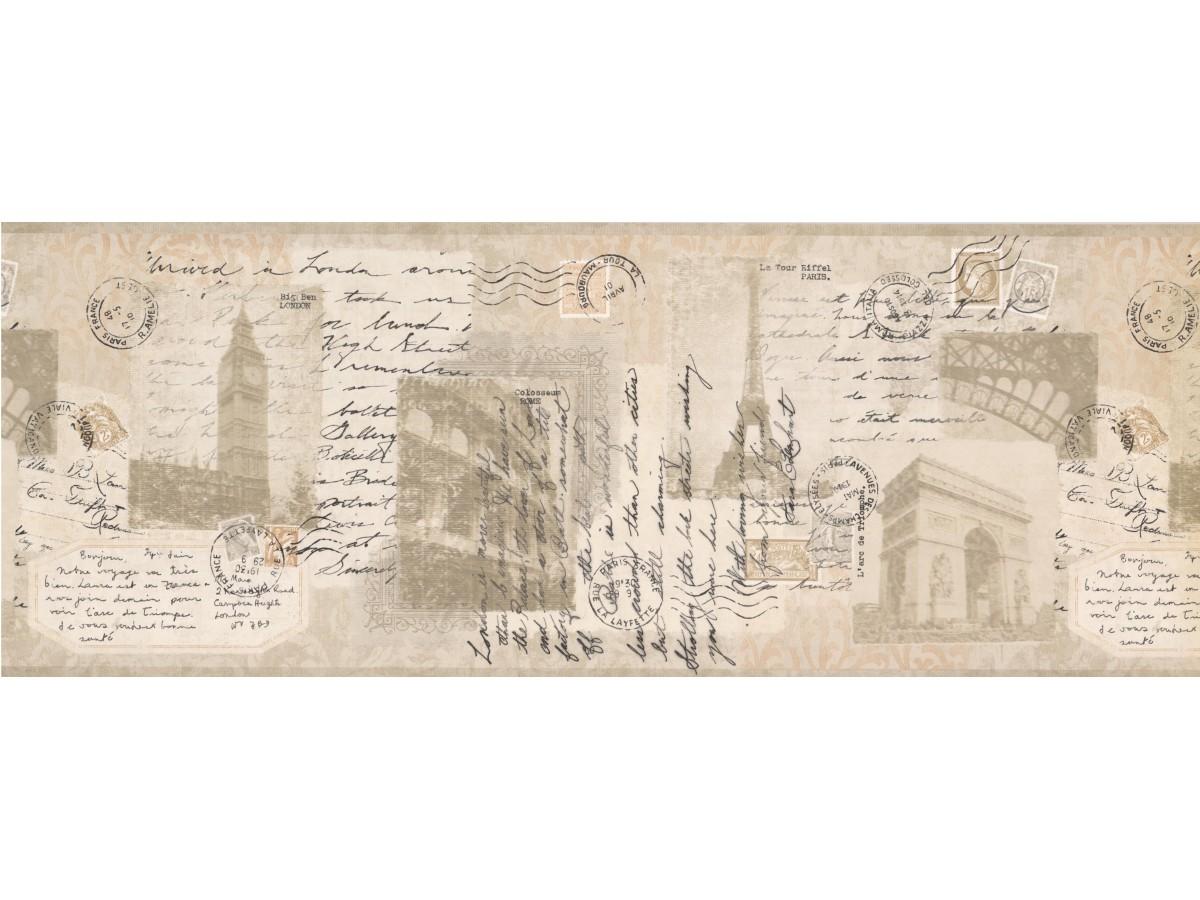 Novelty Wallpaper Borders: Retro Wallpaper Border 8774 AM