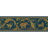 Jungle Wallpaper Borders: Animals Wallppaer Border 87B62212