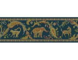 6 3/4 in x 15 ft Animals Wallppaer Border 87B62212