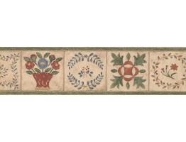 Prepasted Wallpaper Borders - Floral Wall Paper Border 89101 CBO