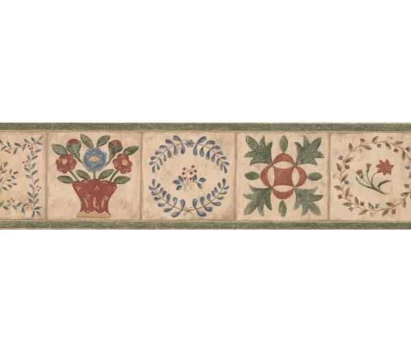 Garden Borders Floral Wallpaper Border 89101 CBO York Wallcoverings