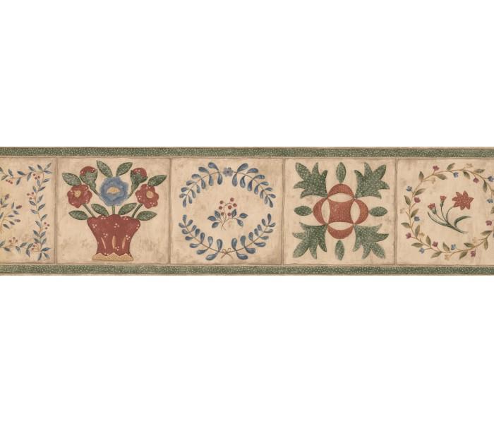 Garden Wallpaper Borders: Floral Wallpaper Border 89101 CBO