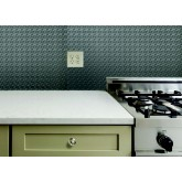 Wall Panels Backsplash Tiles  - Decorative Thermoplastic Tile 18 X 24 Claasic Mozaic Brushed Nickel