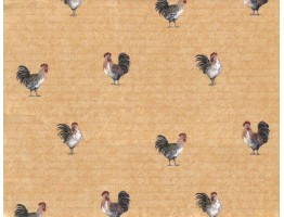Roosters Wallpaper 9031WK