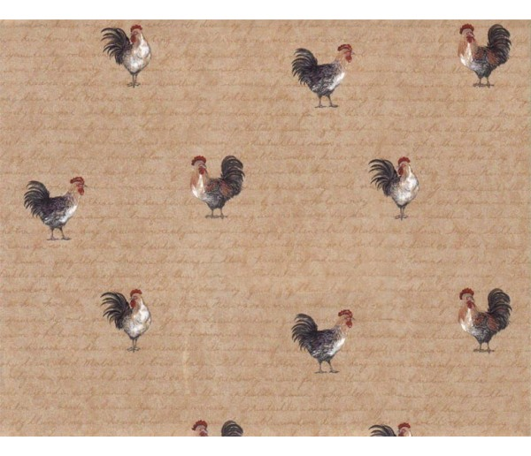 Birds Wallpaper: Roosters Wallpaper 9032WK
