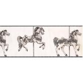 Horses Horses Wallpaper Border 9136 YS York Wallcoverings