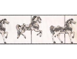 Prepasted Wallpaper Borders - Horses Wall Paper Border 9136 YS