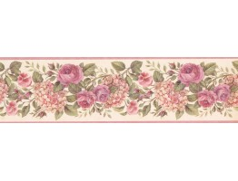 6 1/2 in x 15 ft Prepasted Wallpaper Borders - Floral Wall Paper Border 92102 GU
