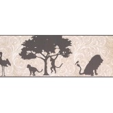 Jungle Wallpaper Borders: Animals Wallpaper Border 9269 YS